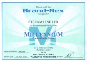 Brand-Rex Certificates