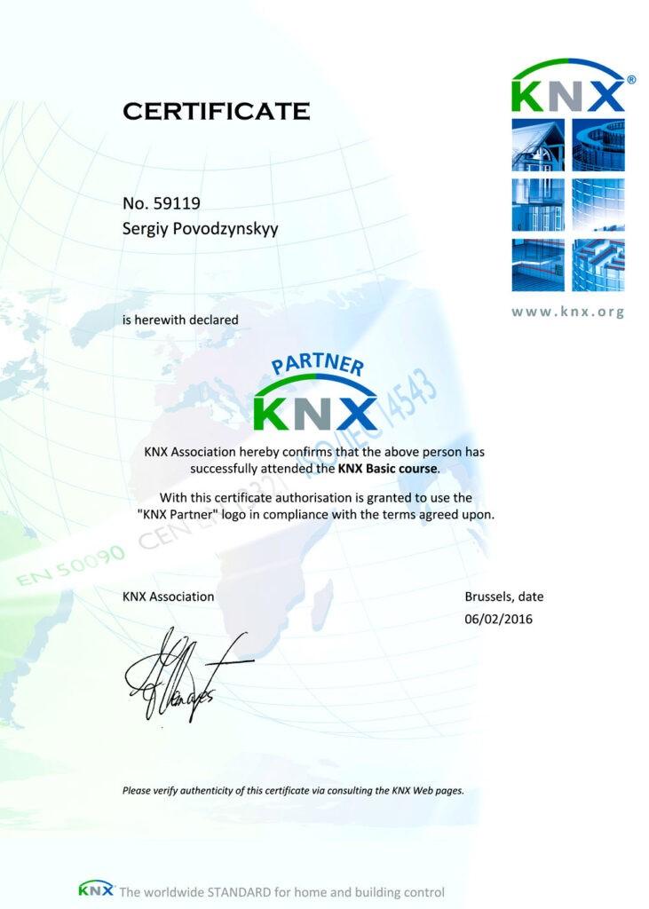KNX Certificates